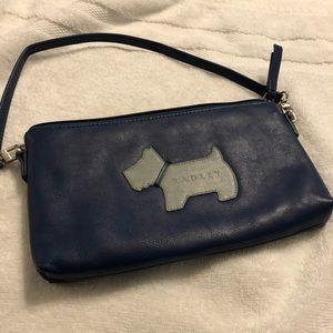 Radley Shoulder Bag in Blue Leather
